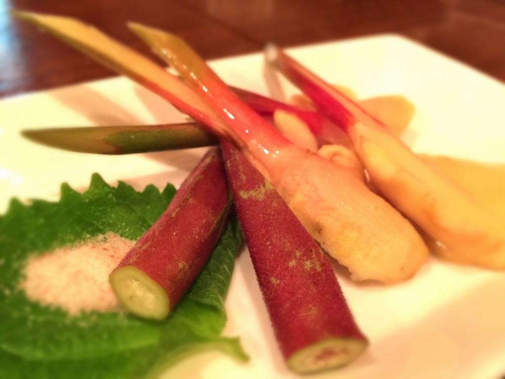 谷中生姜にオクラ!ココは野菜も旨いのです☆