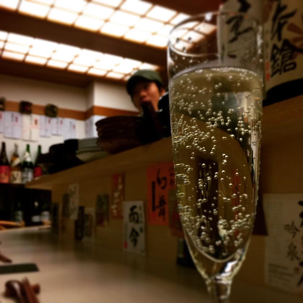 乾杯はスパークリングで♪