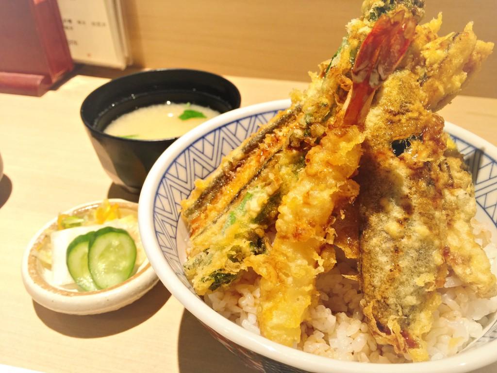 天ぷら こばし 上天丼¥1,320