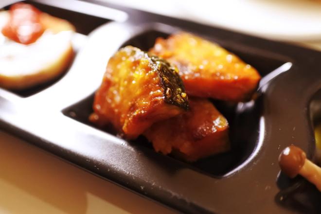 ホタテと小松菜のクリーム ゆず胡椒風味