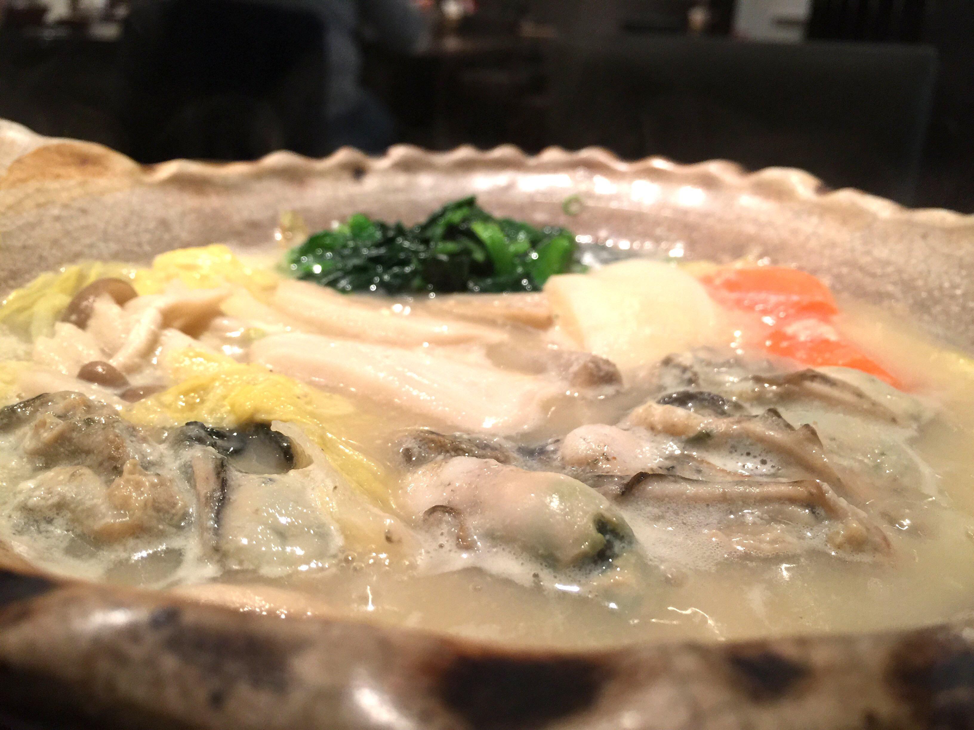 桃浦かきの白味噌鍋定食 ¥1,148